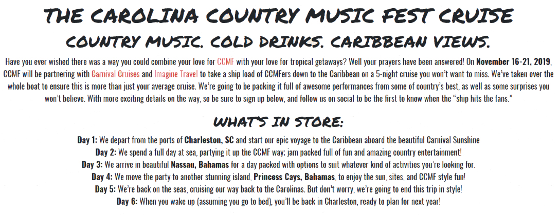November 2019 Country Music Cruise
